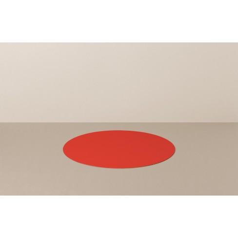 Кръгла подложка за хранене 39см Livo червена