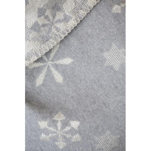 Одеяло Diva Snowflakes сиво 140x220см