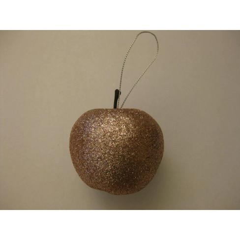 Висяща фигура ябълка 7см златиста