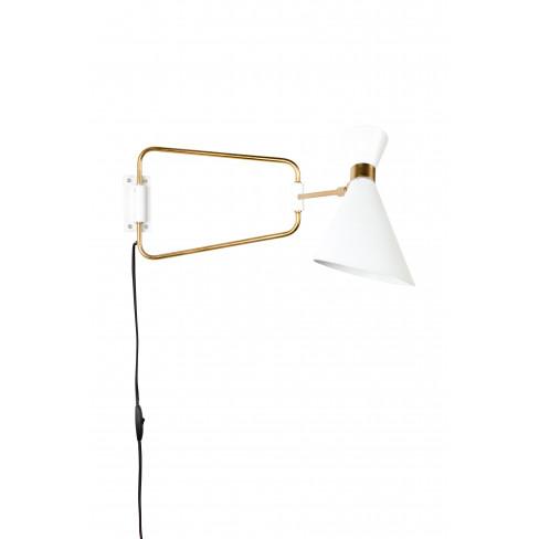 Стенна лампа Shady 73см бяла