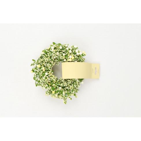 Гирлянд с топчета и листенца 250см екрю/зелено