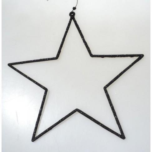Висяща фигура звезда 12 см черна