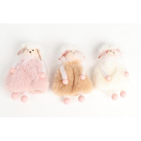 Пухкава фигура овца 8см три вида