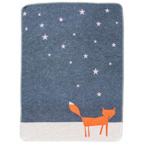 Бебешко одеяло Juwel лисица сиво 70x90см