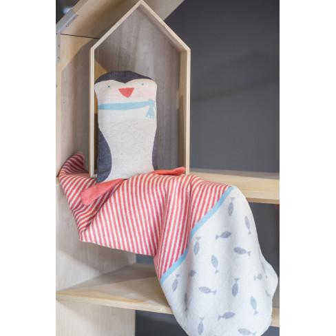 Бебешко одеяло с кукла Juwel пингвин 70x90см