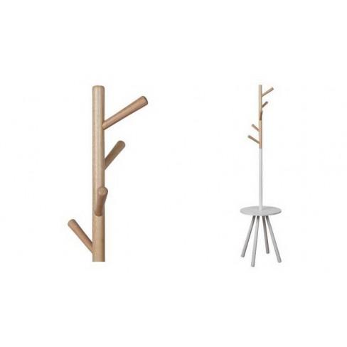 Дървена закачалка Tree 169 см бяла