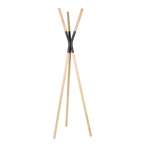 Дървена закачалка Pinnacle 176 см сива