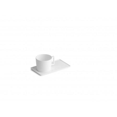 Чаша за кафе с чинийка Verso 220 мл бяла