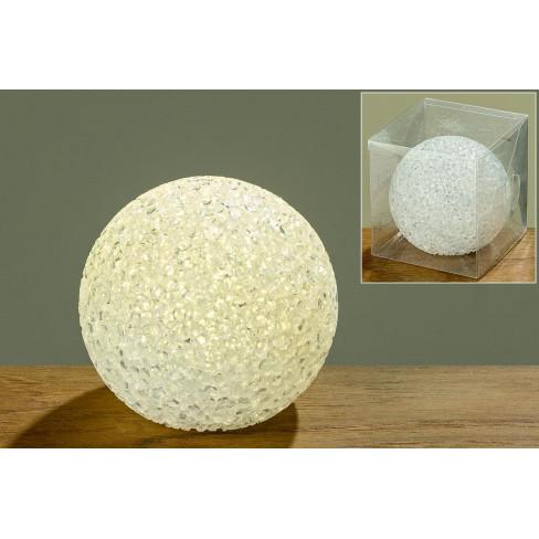Led светеща топка 7.5см бяла