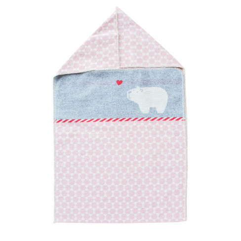 Одеяло за изписване с качулка Juwel розово 45x76см
