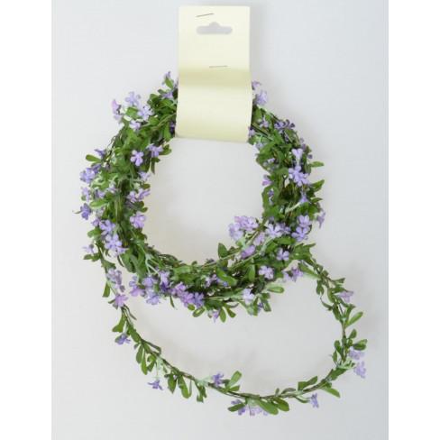Гирлянд с цветчета и листа 270см лила