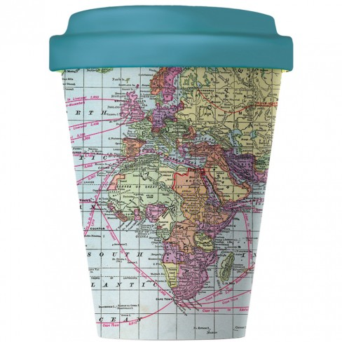 Бамбукова чаша с капак 400 мл Around The World