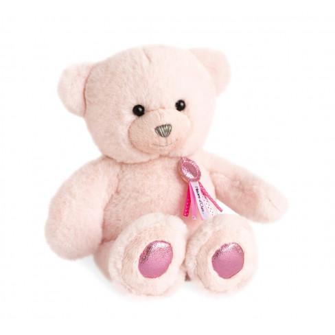 Плюшена играчка мече 24см Ours Charms розово