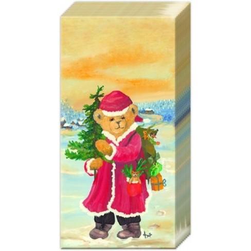 Носни кърпички 10бр. Santa Bear