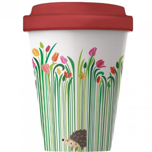 Бамбукова чаша с капак 400 мл Flower Surprise