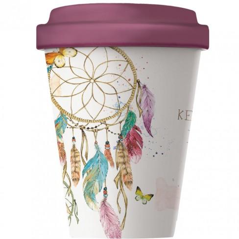 Бамбукова чаша с капак 400 мл Dreamcatcher