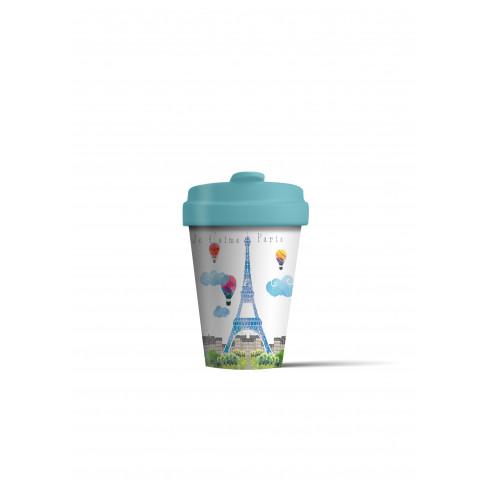 Бамбукова чаша с капак 400 мл Paris Watercolor