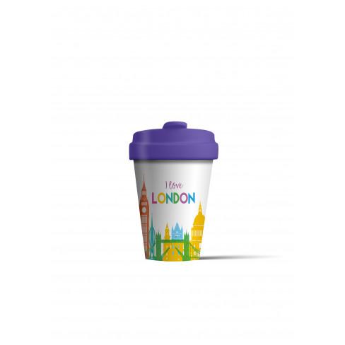 Бамбукова чаша с капак 400 мл London Skyline