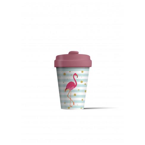 Бамбукова чаша с капак 400 мл Flamingo