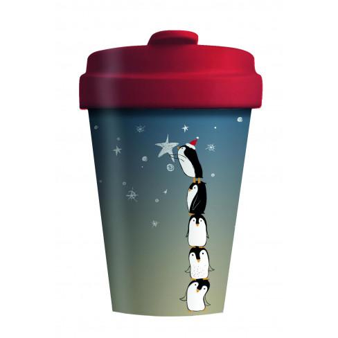 Бамбукова чаша с капак 400мл Penguin Tower