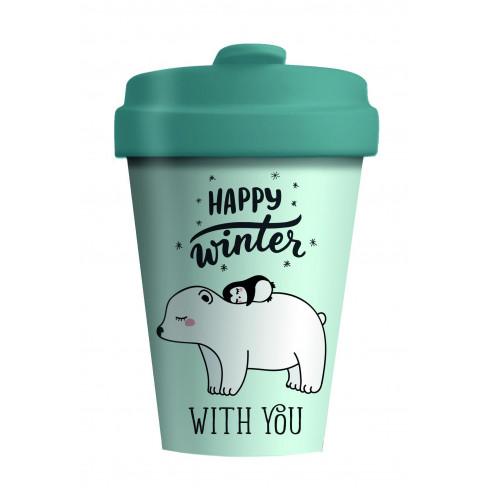 Бамбукова чаша с капак 400мл Polar Friends