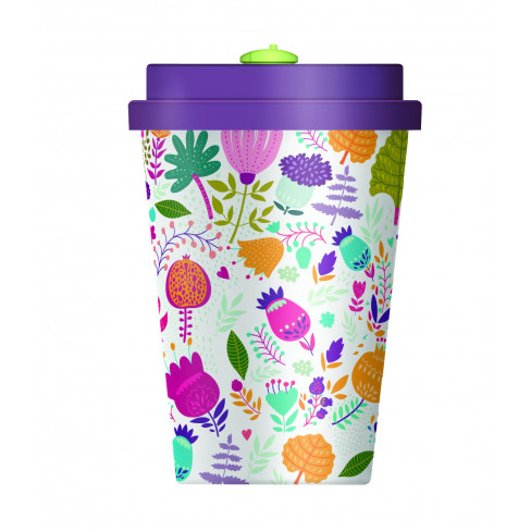 Бамбукова чаша с капак 350мл Fun Flowers