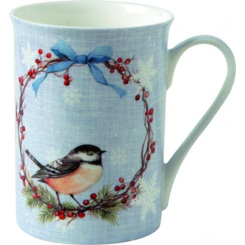 Чаша Mug 375мл Chickadee светло синя