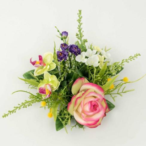Венче за свещ орхидея 16см розово