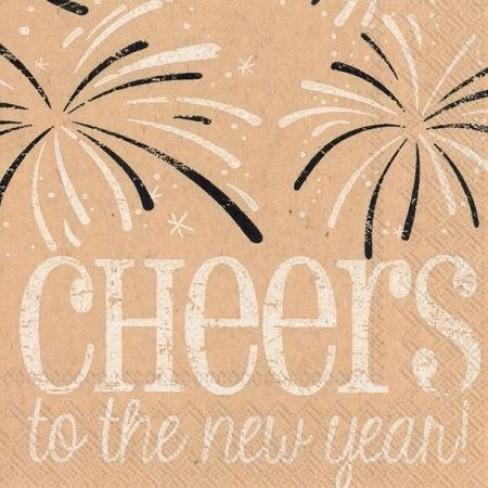 Салфетки трипластови 20бр Cheers To The New Year