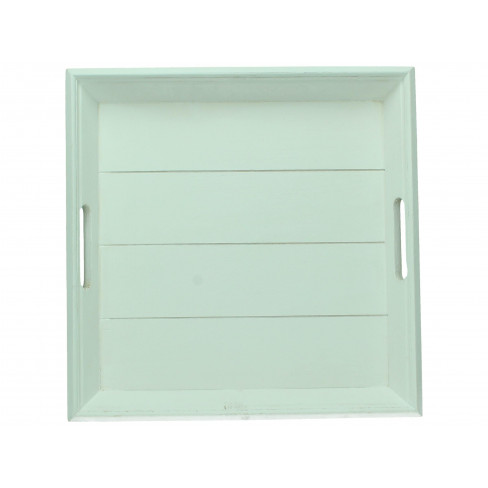 Дървена табла квадратна 38х38 см бяла