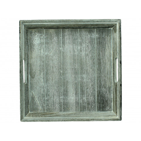 Дървена табла квадратна 38х38 см сива