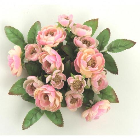 Венче за свещ рози 14см розово