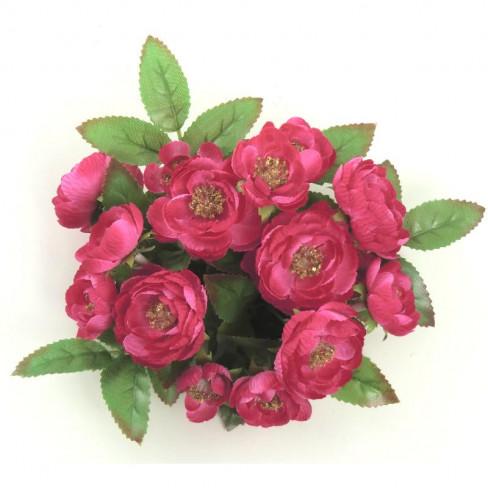 Венче за свещ рози 14см тъмно розово