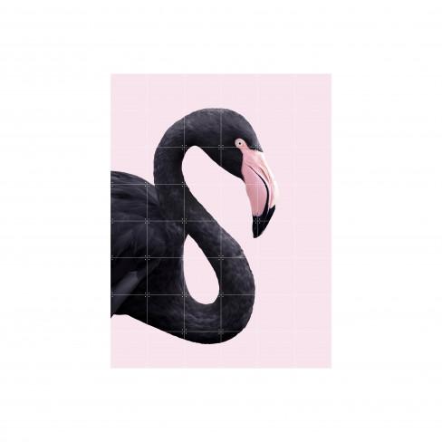 Пъзел за стена Ixxi 80х100см Black Flamingo S
