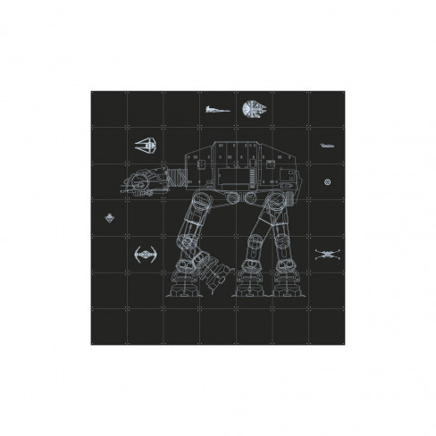 Пъзел за стена Ixxi 140х140см Star Wars Galaxy