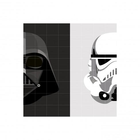 Пъзел за стена Ixxi 80х80см Stormtrooper/vader