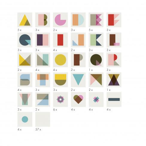 Пъзел за стена Ixxi 154части Geometric букви