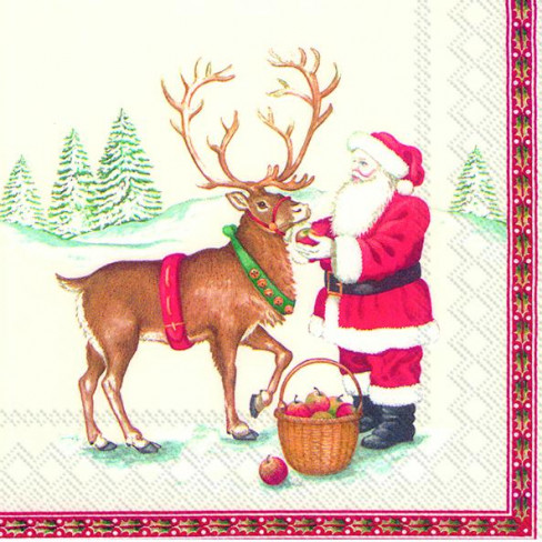 Салфетки 20бр Santa And Deer V&b
