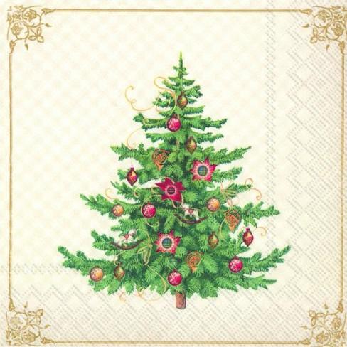 Салфетки 20бр Nostalgic Christmas Tree екрю