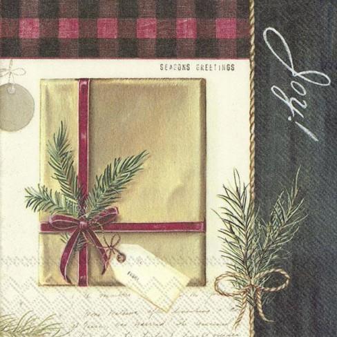 Салфетки 20бр Holiday Wrapping екрю