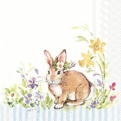 Салфетки 20бр Lovely Bunny светло сини
