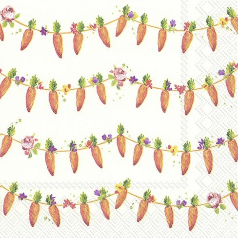 Салфетки 20бр Carrots Garland