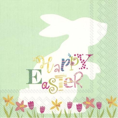 Салфетки 20бр Funny Bunny светло зелени