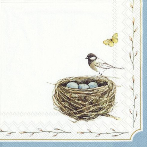 Салфетки 20бр Easter Nest бели