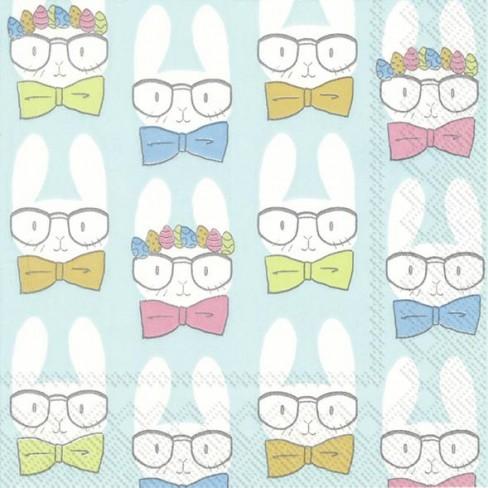 Салфетки 20бр Easter Bunnies тюркоаз