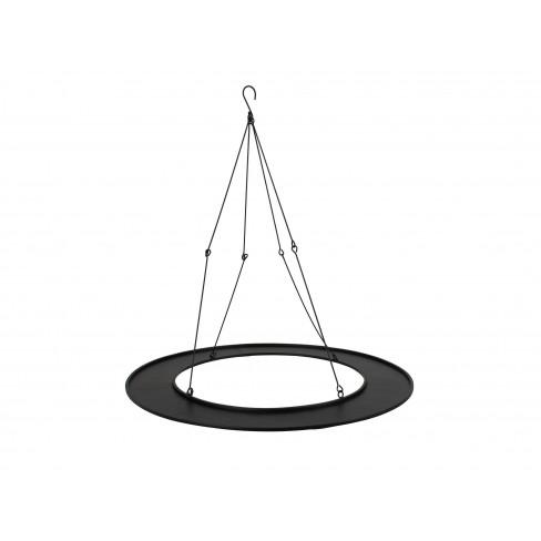 Метално кръгло плато за окачване 60x62см черно