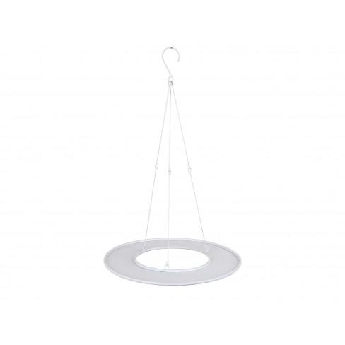 Метално кръгло плато за окачване и декорация 45x70см бяло