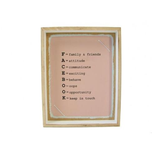 Рамка за снимка за стена 19x24 см шперплат