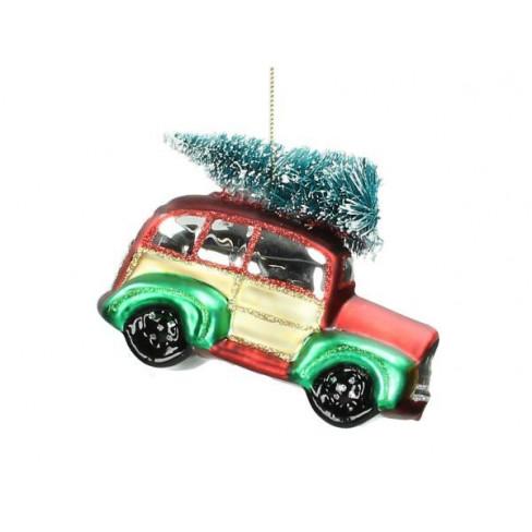 Играчка за елха кола с елха 11 см