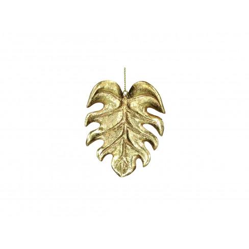 Фигура за елха 9см листо златиста